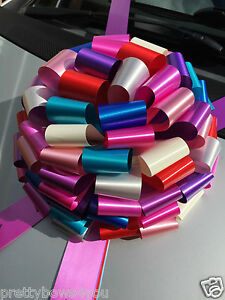 GIANT-CAR-Bike-Bow-Extra-Large-Birthday-Present-Huge-Gift-Bow-MULTICOLOR-30cm