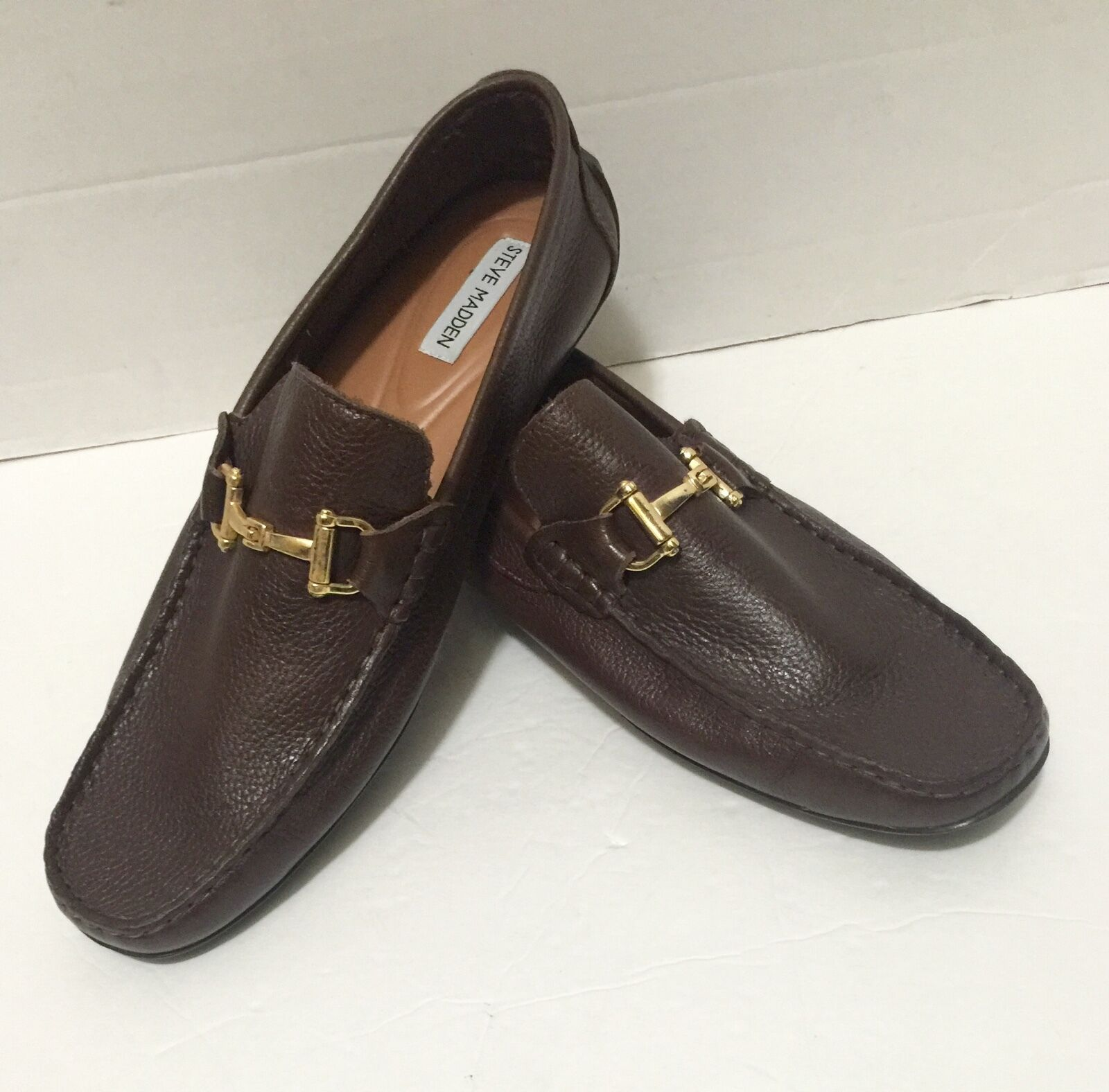 Steve Madden Zorzi Brown Driving Pelle Loafers Shoes 11.5