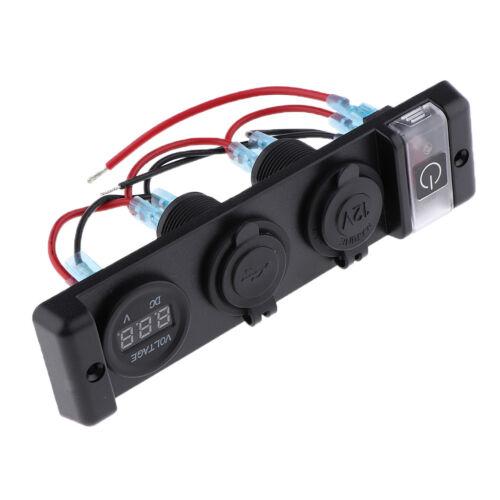 Dual USB Ladegerät 12 V Steckdose Voltmeter 3 Loch Panel Für Marine Auto