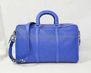 b55ad31e17cd54 NWT! Michael Kors Libby Large Gym Bag in Electric Blue Perforated ...