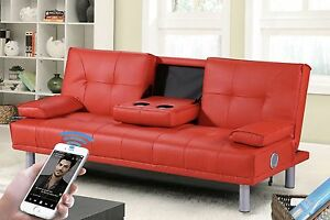 2-3-Seater-Small-Sofa-Bed-Modern-Click-Clack-Design-Bluetooth-Speaker-Option
