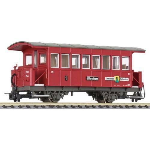 Vagone passeggeri h0e di zillertalbahn liliput l344359 nella propria zona