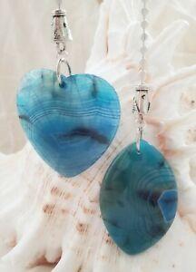 Turquoise Ceiling Fan Chain Pull Ceiling Fan Pull Large Turquoise Agate Blue Agate Fan Pull