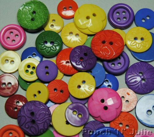 Children Bright Mix Round Dress It Up Sewing Craft Buttons PRIMARY Color Me..
