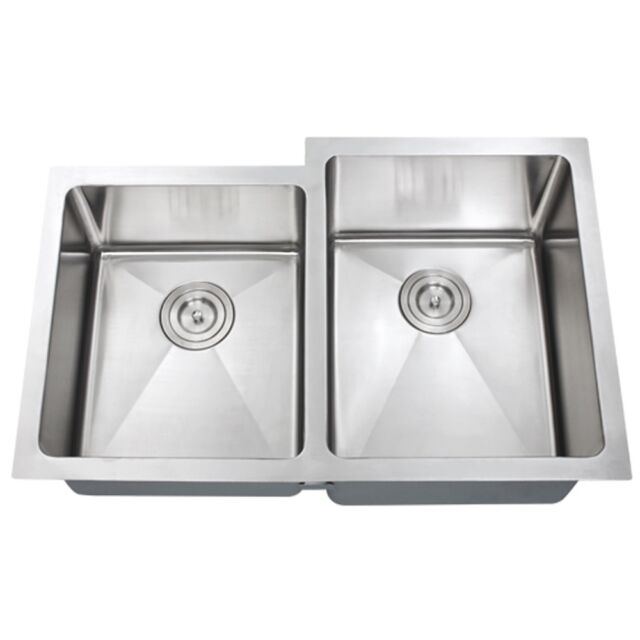16 X 29 Double Bowl Stainless Steel Hand Made Undermount Kitchen