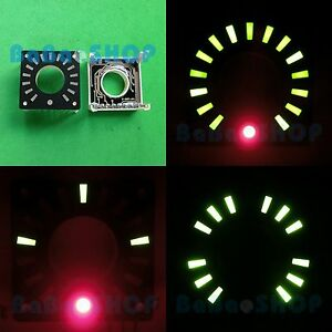 1-3-034-Annular-LED-Ring-Display-Green-Bars-amp-Red-Dot-Rotary-Encoder-or-Clock