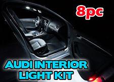 8pc Audi A4 A5 B8  LED INTERIOR KIT Xenon White Interior Light Bulbs B9 RooF