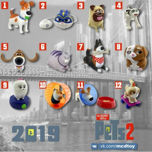 McDonald/'s Russia Toy Happy Meal 2019 The Secret Life of Pets 2
