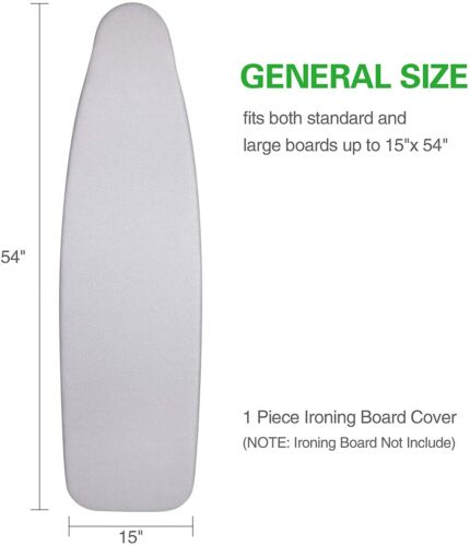 Ironing Board Cover 19 x 58 Scorch and Stain Resistant Thick Padding 4 Fasteners