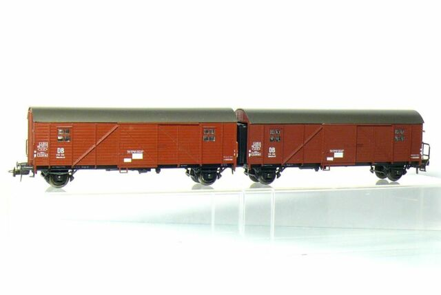 Roco 4328 H0 Leig Unit with 2 Covered Freight Car Gllmehs 37 DB like New Boxed