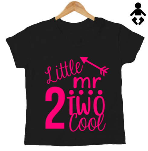 funny Baby // Childs T-Shirt two today Second Birthday 2 LITTLE MR TWO COOL