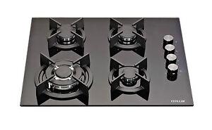 MILLAR-GH6041XEB-4-Burner-Built-in-60cm-Black-Gas-on-Glass-Hob-with-Wok-Burner