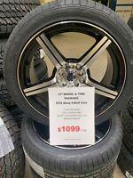 "17"" 5-4.5 / 5-100 Aluminum Wheel & Tire Package 225/45R17 Hamilton Ontario Preview"