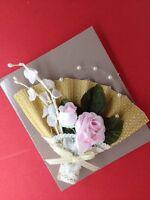 Vintage 1991 Avon Floral Fan Pin In Box (d23)