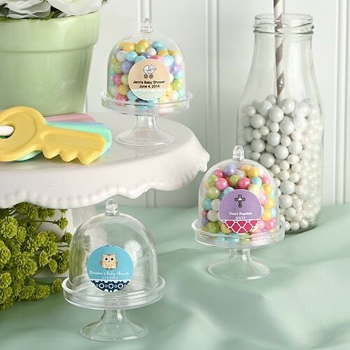 75 Personalized Mini Cake Stand Boxes Wedding Bridal Baby Shower Shower Shower Party Favors 7e9920