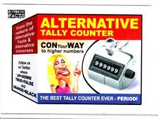 """2017 WACKY PACKAGES/GPK ALTERNATIVE FACTS """"ALTERNATIVE TALLY COUNTER"""" #1"""