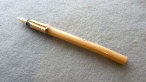 Homemade bamboo dip pen, Iridium point nib Germany, 6.75 inches in length.