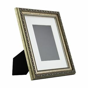 Ancien-Ornate-Table-Top-8x10-Antique-Silver-Standing-Picture-Frame-with-Mat