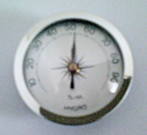 Deutsches Fabrikat Einbau Aufbau analog 45 mm Hygrometer Aluskala silber