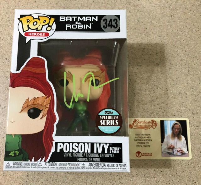 Uma Thurman Signed Funko Pop Poison Ivy Heroes DC #343 Autograph Auto CA COA