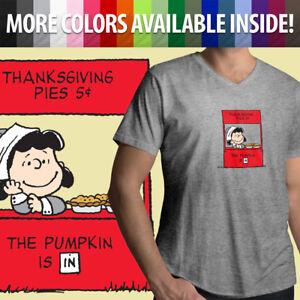 Charlie-Brown-Thanksgiving-Pumpkin-Pie-Holiday-Lucy-Cute-Mens-Unisex-Tee-T-Shirt