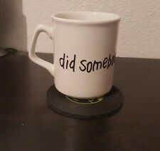 """McDonald's My Morning Mug Coffee Cup """"Did Somebody Say ?"""" Golden Arches logo"""