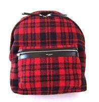 J-455497 Saint Laurent Plaid Flannel Hunting Bag Backpack