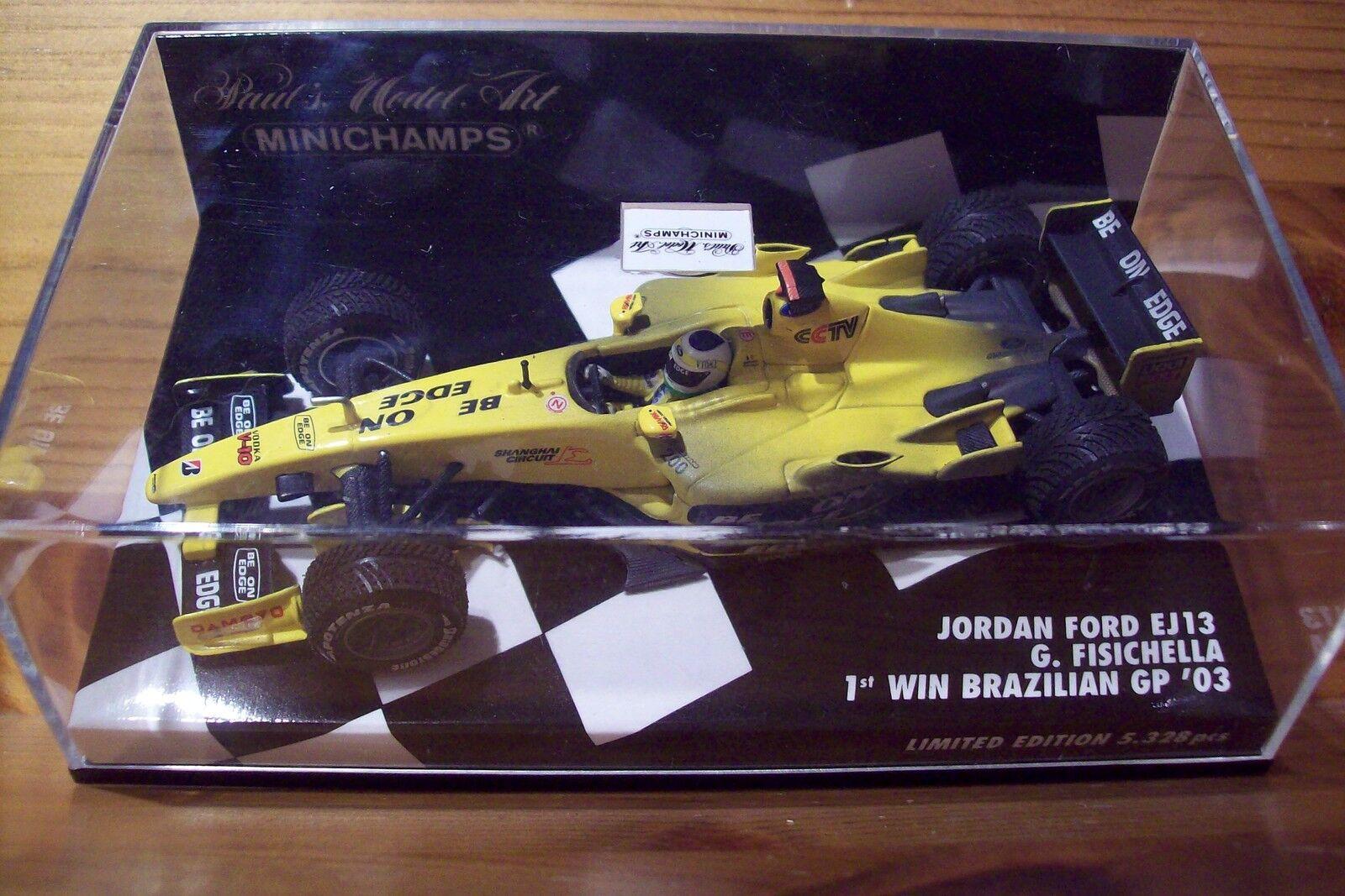 1 43 JORDAN 2003 FORD EJ13 GIANCARLO FISICHELLA 1st WIN BRAZILIAN GP