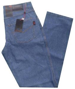 Jeans-uomo-5-tasche-Taglia-46-48-50-52-54-56-58-60-pantalone-tela-denim-leggera
