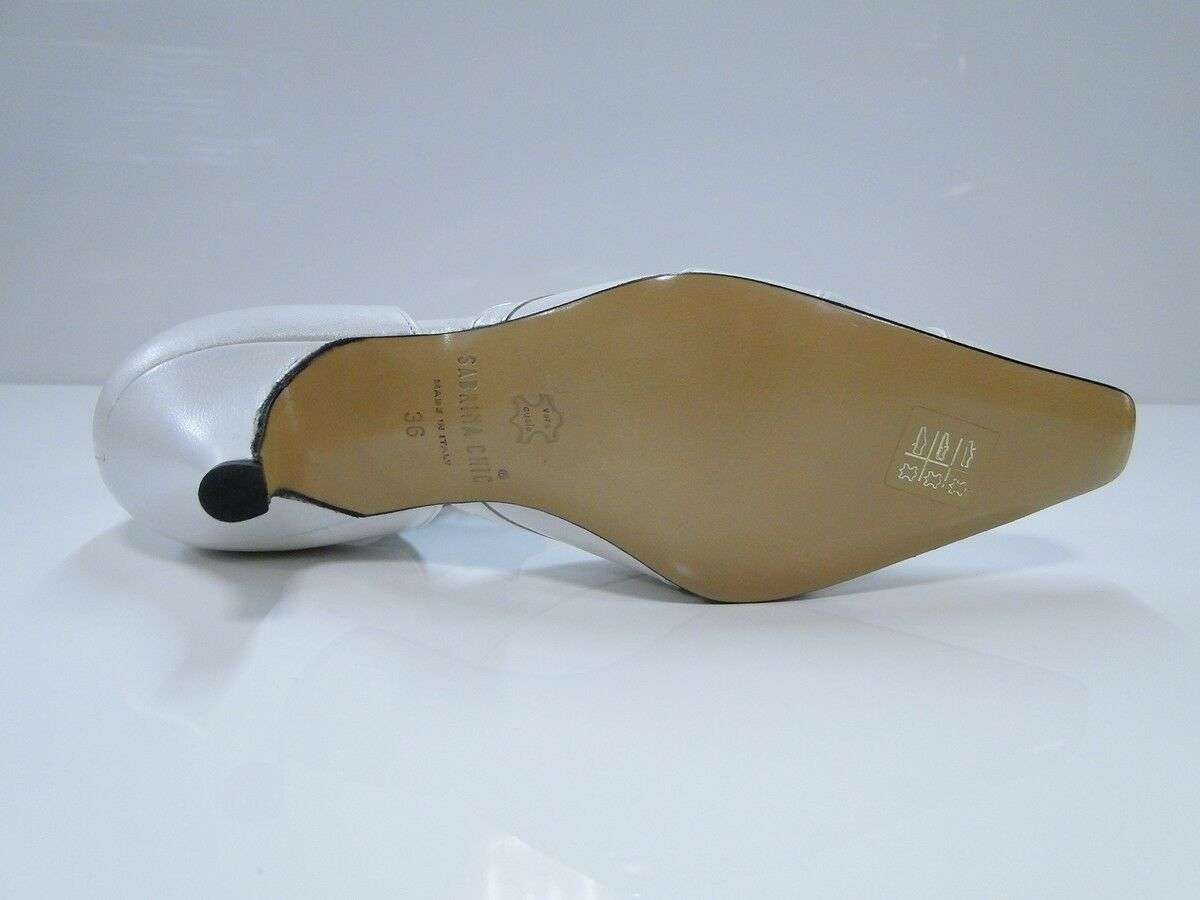 Sabrina Chic Womens - Pearl White Court Heel Shoes - Womens (2594 P-8000) f22576