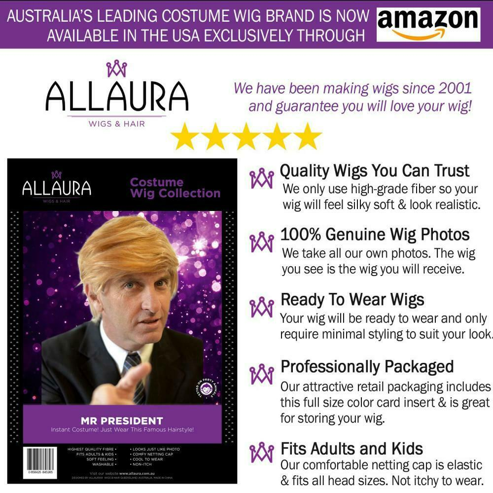 Funny Donald Trump Wig for Adults Kids Trumps MAGA President Hair Costume Wigs