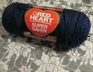 NEW-RED-HEART-SUPER-SAVER-Soft-Navy-Blue-Medium-Yarn-198-g-Acrylic-USA-0387-6563