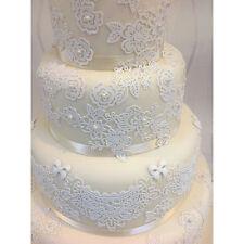 11 Edible Lace Rose Panels Weddings Engagments Anniversary Birthdays High Tea