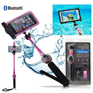 new waterproof bluetooth selfie stick kit with remote for iphone samsung lg h. Black Bedroom Furniture Sets. Home Design Ideas