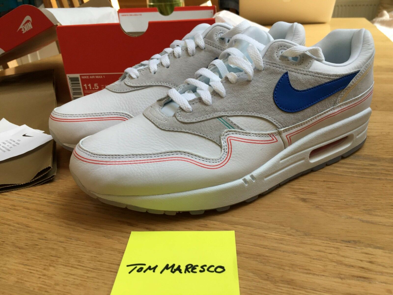 NIKE Air Max 1  By Day  Pompidou Centre Weiß AV3735-002 UK 10.5