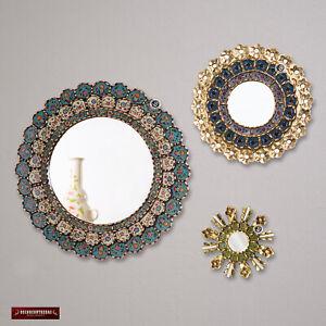 Round Mirror for wall decor set 3, Sunburst Mirrors ...