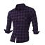 Men/'s Long Sleeve Flannel Casual Check Print Cotton Work Plaid Shirt Top