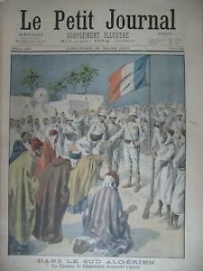ALGERIE-DJEMAA-DE-CHARROUIN-AMAN-COLONIALE-CIRQUE-ACCIDENT-LE-PETIT-JOURNAL-1901