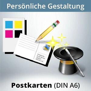 Postkarten-gestalten-DIN-A6-farbig-2-seitig-z-B-Gutschein-Wertkarte-u-s-w
