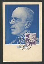 SCHWEDEN MK 1947 GUSTAV V. KÖNIG KING ROI REI CARTE MAXIMUM CARD MC CM d7683
