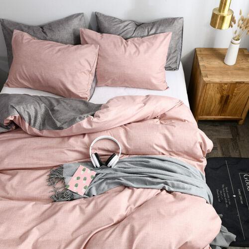 Reversible Quilt Pillow Cases Duvet Cover Bedding Set Full Twin Queen King Size