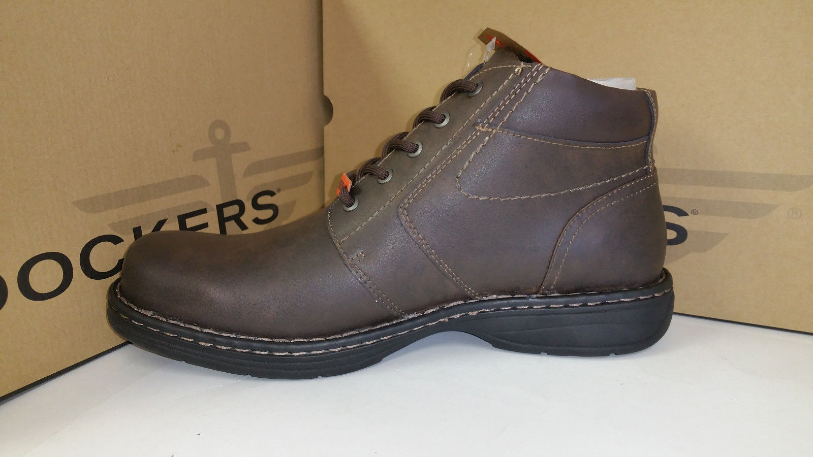 600084b46676 ... Dockers Men s Full Grain Leather Kingman Brown Stain Defender Defender  Defender Ankle Boots (5778) ...