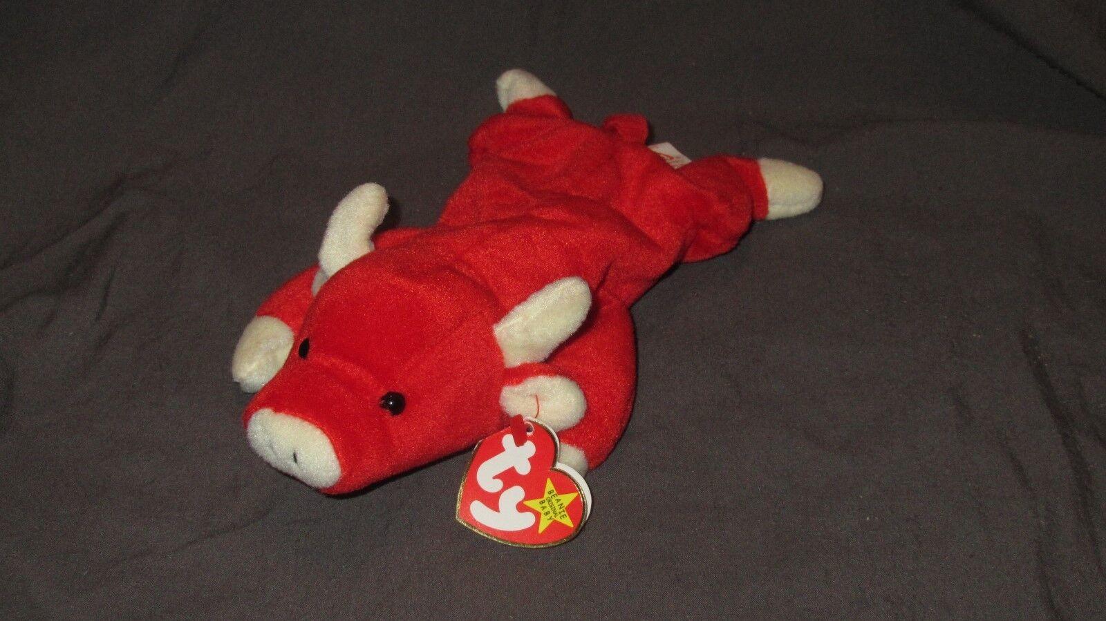 Snort - rot bull beanie baby w   fehler