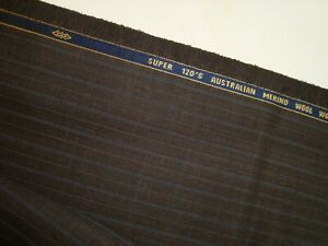 4-33-yd-English-WOOL-Australian-Merino-Super-120s-FABRIC-8-5-oz-Suiting-156-034-BTP