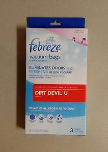 Image Is Loading Febreze Dvacuum Bags Fits Dirt Devil U 3