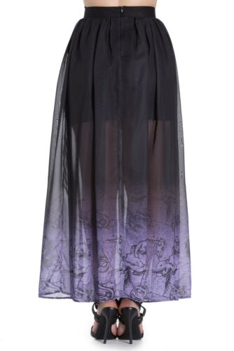 SPIN DOCTOR HELL BUNNY EVADINE GOTHIC WITCH VICTORIAN LONG MAXI SKIRT 5392