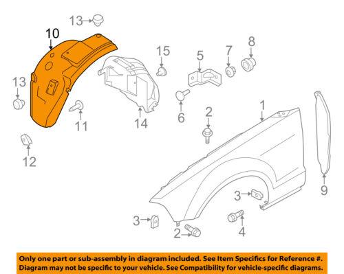 FORD OEM 10-14 Mustang-Front Fender Liner Splash Shield Right AR3Z16102A