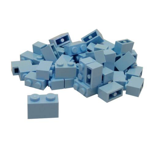 45 NEW LEGO Brick 1 x 2 Bright Light Blue