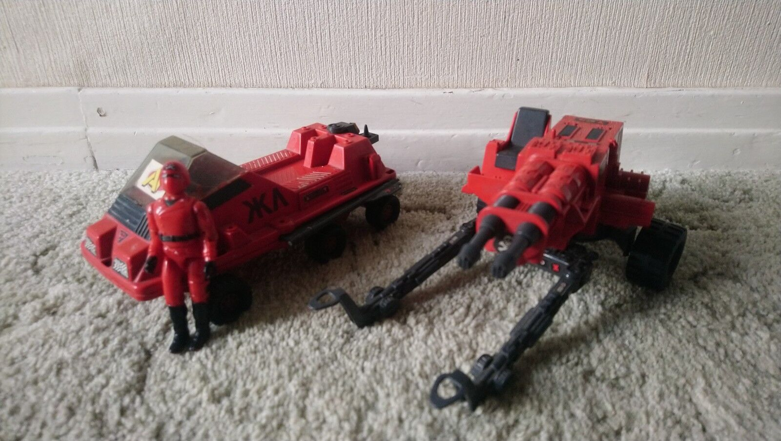 Gi Joe Rojo Sombras láser Exterminador pistola fuerza de acción Láser Rojo Vintage