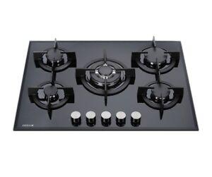 Millar-GH7051PB-5-quemadores-de-gas-integrado-en-placa-de-cristal-70cm-Soportes-amp-Wok-de-hierro